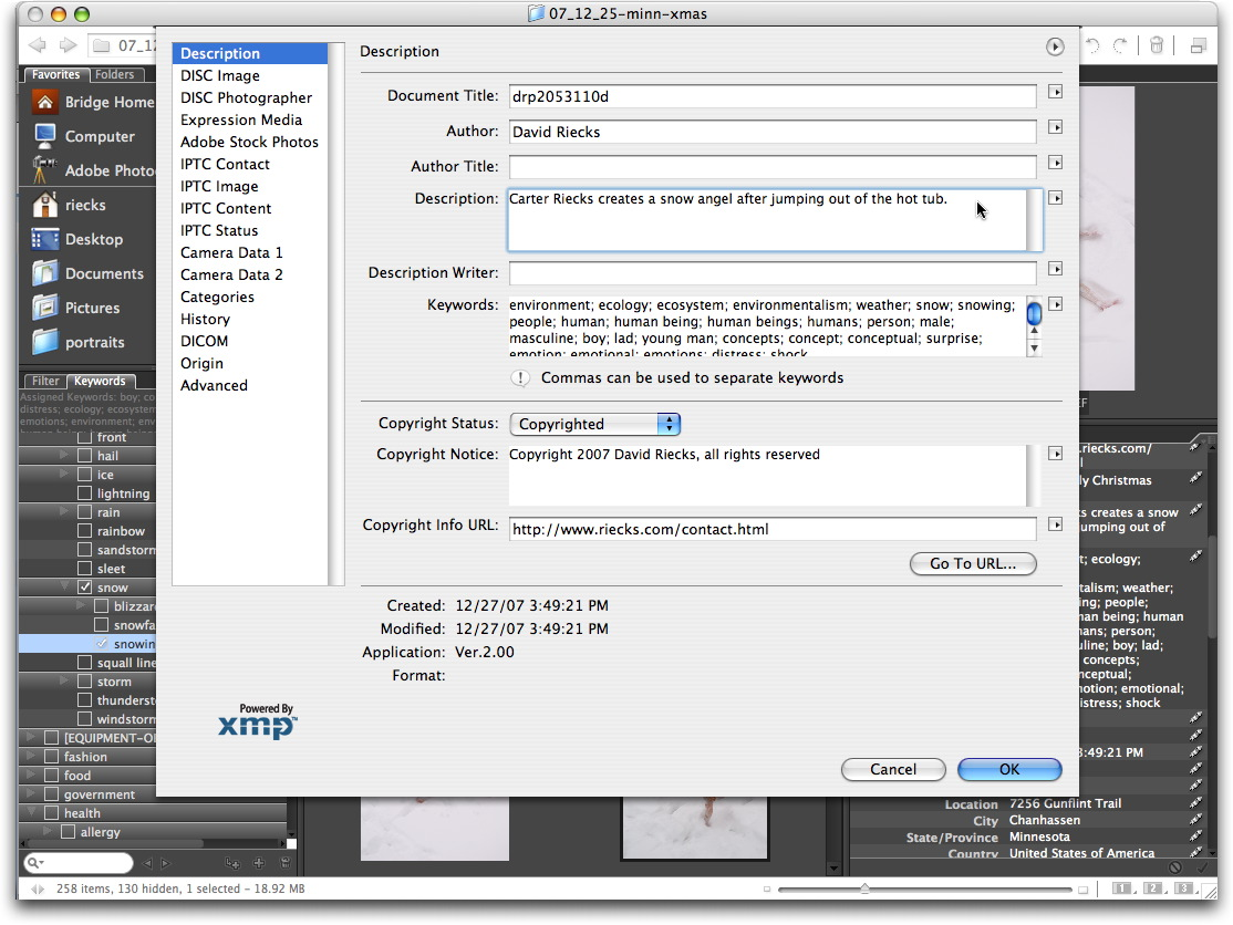 Adobe bridge photometadata tags entered in bridge translate into iptc core tags when the filefile info command is selected in bridge or adobe photoshop cs3 and cs4 the applications baditri Gallery