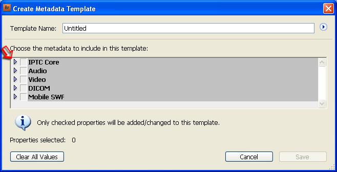 Create A Template | Creating Metadata Templates Photometadata Org
